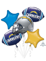 LA Chargers NFL Team Balloon Bouquet Assortment