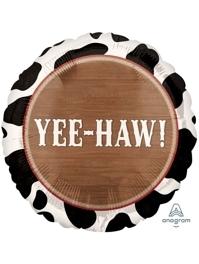 "18"" YeeHaw Cowboy Western Balloon"