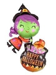 "28"" Witch Cauldron Halloween Balloon"