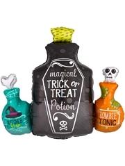 """28"""" Potion Bottles Halloween Balloon"""
