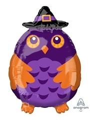 "20"" Witchy Owl Shape Halloween Balloon"