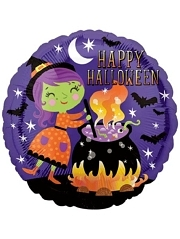 "18"" Halloween Witch Cauldron Balloon"