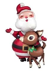 "48"" Santa & Reindeer Christmas Balloon"