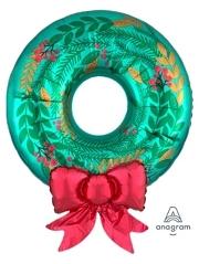 """30"""" Satin Wreath Christmas Balloon"""