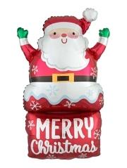 "30"" Santa In Chimney Christmas Balloon"
