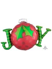 "31"" Joy Ornament Christmas Balloon"