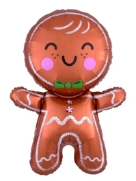 "31"" Happy Gingerbread Man Christmas Balloon"