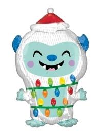 "20"" Yeti Christmas Balloon"