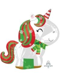 "21"" Christmas Unicorn Balloon"