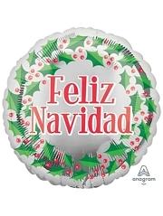 """18"""" Feliz Navidad Wreath Christmas Balloon"""