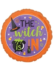 """18"""" Witch Is In Halloween Balloon"""