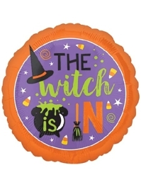 "18"" Witch Is In Halloween Balloon"