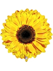 "24"" Yellow Flower Autumn Balloon"