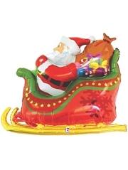 """46"""" Santa Sleigh Christmas Balloon"""