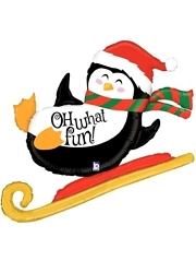 "42"" Oh WHat Fun Penguin Christmas Balloon"