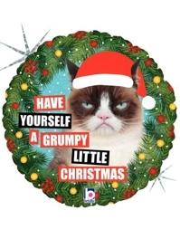 "18"" Crumpy Cat Christmas Balloon"