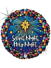 "18"" Silent Night Holy Night Christmas Balloon"