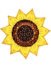 "42"" Sunflower Thanksgiving Balloon"