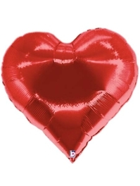 "30"" Heart Shape Casino Poker Balloon"