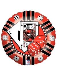 "18"" Casino Chip Poker Balloon"