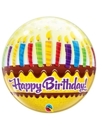 "22"" Birthday Candles & Fronsting Bubble Balloon"