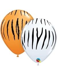 "11"" Zebra & Tiger Stripes Balloon Assortment"