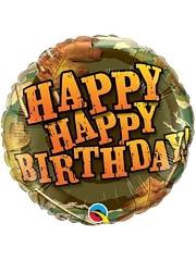 """18"""" Birthday Camouflage Balloon"""