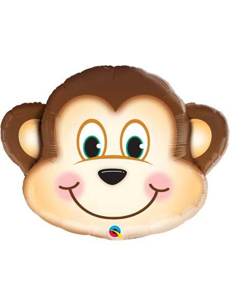 """35"""" Mischievous Monkey Jungle Animal Balloon"""