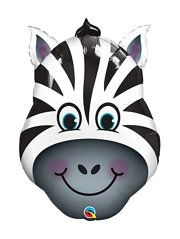 "32"" Zany Zebra Safari Animal Balloon"