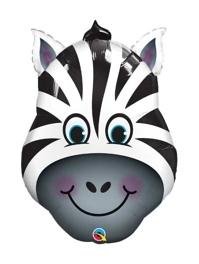"""32"""" Zany Zebra Safari Animal Balloon"""