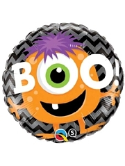 "18"" Boo Monster Chevron Halloween Balloon"