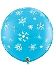 """11"""" Snowflakes & Sparkles Balloon"""
