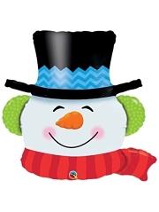 """36"""" Smilin Snowman Christmas Balloon"""