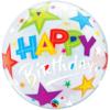 """22"""" Bithday Brilliant Stars Bubble Balloon"""