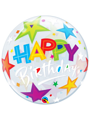 "22"" Bithday Brilliant Stars Bubble Balloon"