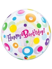 "22"" Birthday Cupcake Dots Bubble Balloon"