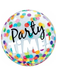 "22"" Party Time Colorful Dots Bubble Balloon"