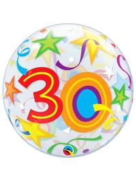 "22"" 30 Brilliant Stars Bubble Balloon"