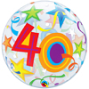 "22"" 40 Brilliant Stars Bubble Balloon"