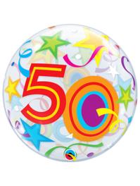 """22"""" 50 Brilliants Stars Bubble Balloon"""