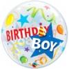 "22"" Birthday Boy Party Hat Bubble Balloon"