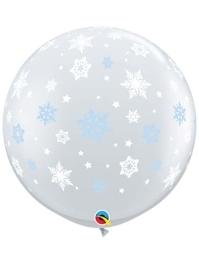 """36"""" Winter Snowflakes Balloon"""