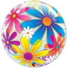 "22"" Fanciful Flowers Bubble Balloon"