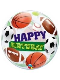 "22"" Birthday Sports Balls Bubble Balloon"