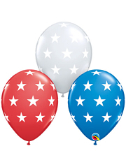 "11"" Big Stars Patriotic Balloons"
