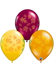 "11"" Autumn Leaves Autumn Balloons"