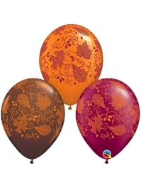 "11"" Fall Leaves Autumn Balloons"