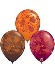 "11"" Fall Leaves Thanksgiving Balloons"
