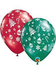 "11"" Christmas Trimmings A Round Balloons"