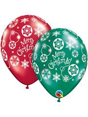 "11"" Christmas Snowflakes Balloons"